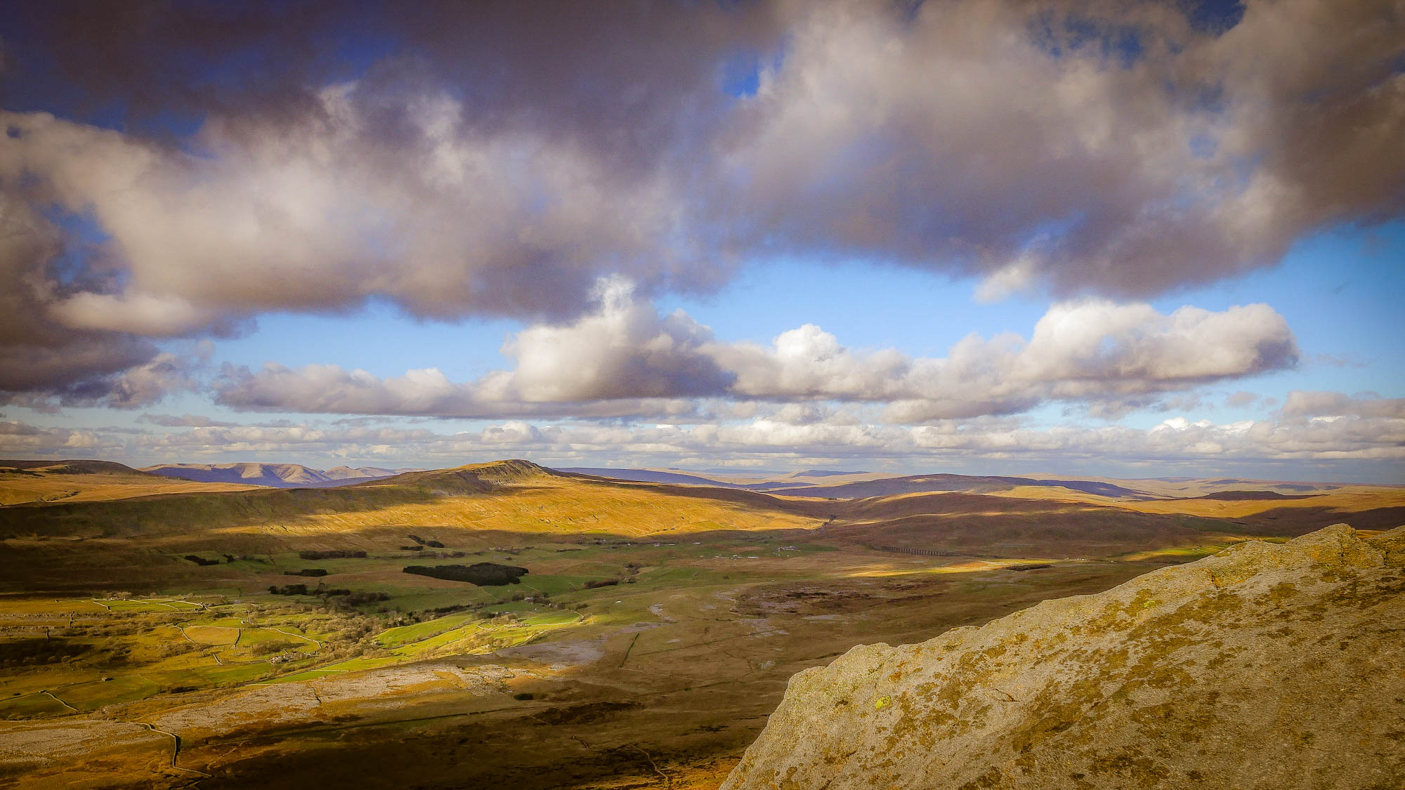 Photo of the view From Ingleborough to Whernside